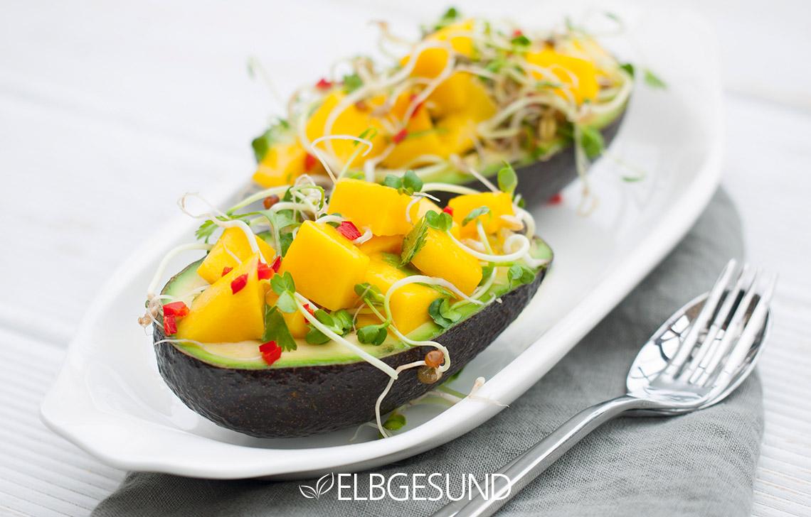 Avocado mit Sprossen Foodblogbilanz 2019
