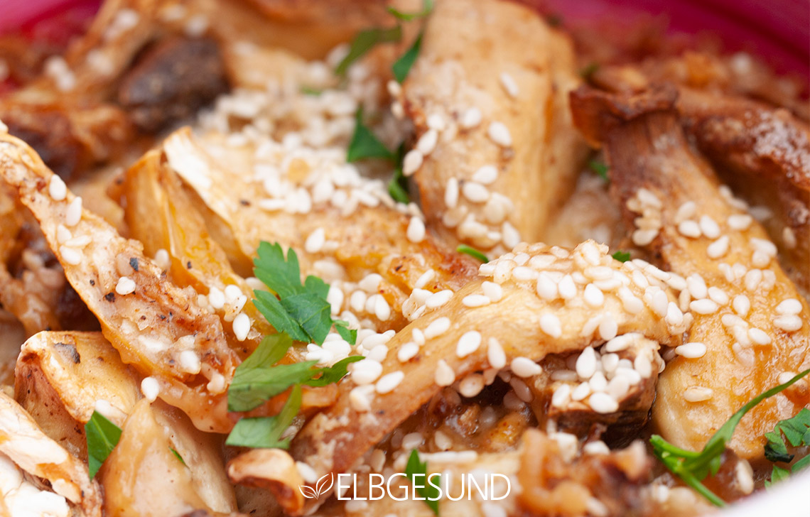 Pulled Mushrooms Pilze vegetarisch