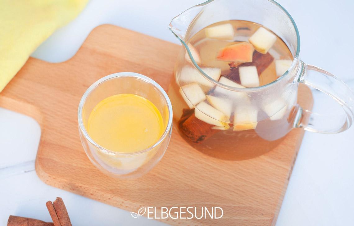 orangen Apfel Ingwer Limonade glas