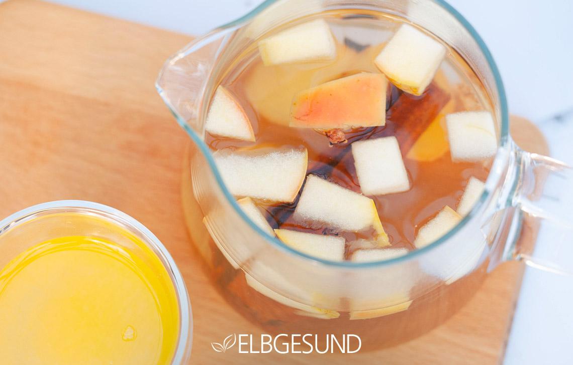 Orangen Apfel Ingwer Limonade Nah